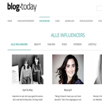 Blogtoday influencer overzicht pagina